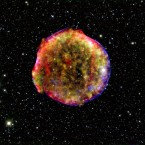This image by NASA is of the Tycho supernova. Supernovas are massive stars that explode and are in the process of dying.