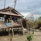 Destruction caused by Cyclone Giri on 22 October 2010. Minbya township, Rakhine State, Myanmar. © MSF