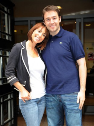 Jason Manford with his former The One Show co-host Alex Jones