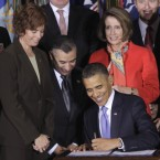 US President Barack Obama signs the Don't Ask, Don't Tell Repeal Act in December, allowing gay people the right to openly serve in the American military.