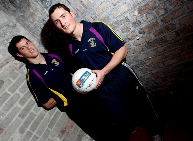 Ross and Rory O'Carroll of Kilmacud Crokes pictured ahead of the Leinster club SFC final with Rhode of Offaly this weekend.