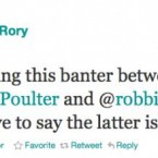 McIlroy's golf buddy Ian Poulter and lovable soccer rogue Robbie Savage were having a bit of back-and-forth on Twitter when young Rory popped in to say hello. 