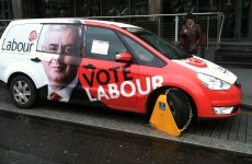 Caption competition: Labour campaign car clamped