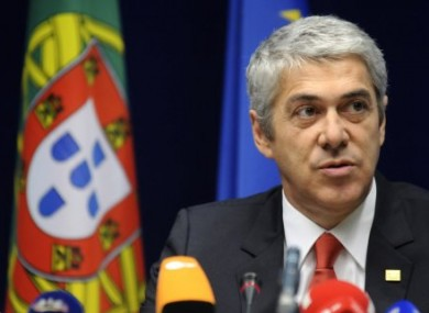 Portugal's caretaker Prime Minister Jose Socrates speaks during a media conference at an EU summit in Brussels on Friday, March 25, 2011.