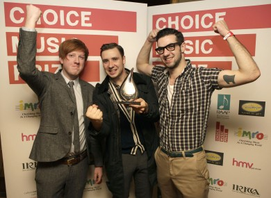 Two Door Cinema Club celebrate winning the Choice Music Prize