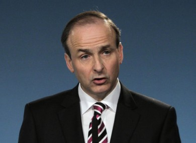 Fianna Fail Leader Micheal Martin. 