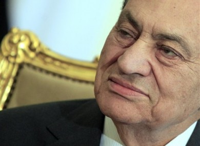 File photo of ex-Egyptian President Hosni Mubarak. 