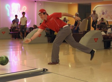 Rory McIlroy takes time out for some bowling over the weekend in Malaysia.