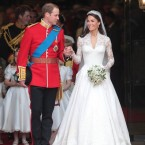 Kate's demure lace dress got the thumbs up. William wore the uniform of the Irish Guards regiment, complete with shamrock on collar.