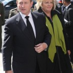 Taoiseach Enda Kenny and wife Fionnuala arrive for the funeral of former Taoiseach Dr Garret FitzGerald at the Sacred Heart Church in Donnybrook, Dublin.