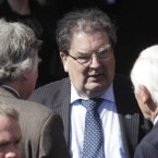 Fomer SDLP leader John Hume attends the funeral of former Taoiseach Dr. Garret FitzGerald at the Sacred Heart Church in Donnybrook, Dublin.