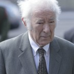 Poet Seamus Heaney attends the funeral of former Taoiseach Dr. Garret FitzGerald at Sacred Heart Church in Donnybrook, Dublin.