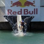 Team 'Sh*t Happens' from Celbridge hit the water at the Red Bull Flugtag.