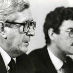 Taoiseach Garret FitzGerald with his Tánaiste Dick Spring in 1986. (Photocall Ireland)