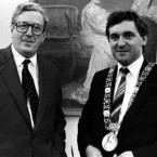 Taoiseach FitzGerald with new Dublin Lord Mayor Bertie Ahern in 1986. (Eamonn Farrell/Photocall Ireland)