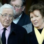 Photo from 22 December 2008 of Garret FitzGerald with former Irish President Mary Robinson. (Niall Carson/PA Wire)