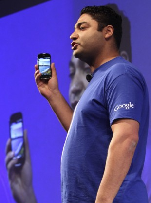 Former PayPal employee Osama Bedier demonstrates how Googe Wallet works at the launch in New York yesterday