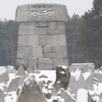 Pictured is Treblinka death camp in Poland. German Adam Nagorny is under investigation in Munich over allegations that he participated in executions in the camp.