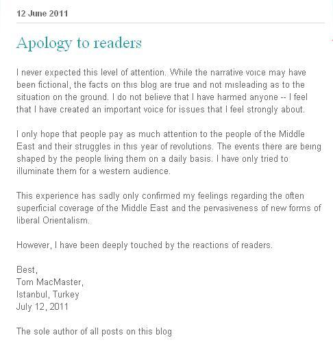 Blog Apology