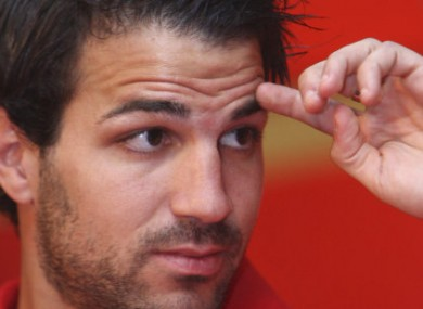 Cesc demonstrates his 'come hither' stare