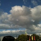 Blue skies over the Forbidden Fruit festival in Dublin this weekend.