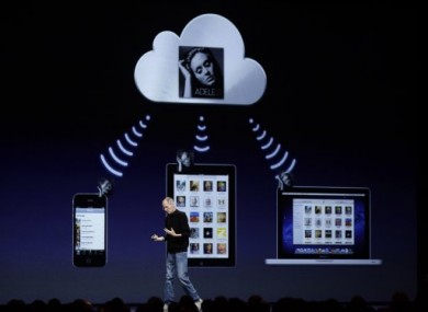 Apple CEO Steve Jobs talks about the music component of iCloud at the Worldwide Developers Conference in San Francisco.