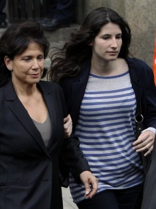Anne Sinclair, wife of Dominique Strauss-Kahn, left, and daughter Camille.