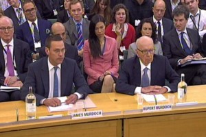 ames Murdoch (left) , Deputy Chief Operating Officer and Chairman and Chief Executive Officer, International News Corporation and Rupert Murdoch, Chairman and Chief Executive Officer, News Corporation