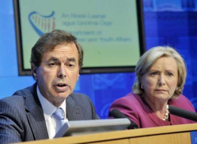 Minister for Justice, Alan Shatter and Minister for Children and Youth Affairs, Frances Fitzgerald.