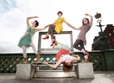 Members of the performance company, PaperDolls, Emily Aoibheann, Karen Anderon, Niamh Creely and Elaine McCague.