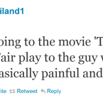 Niland was not a fan of Terrence Malick's latest movie.