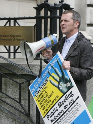 Richard Boyd-Barrett is one of the demonstration orgnaisers.