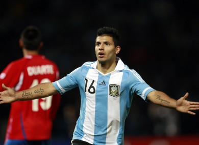 Aguero, who looks set to move to Man City, was in action at the Copa America recently.