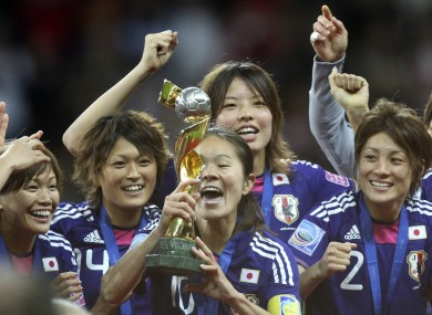 The Japanese women's team: in happier times.