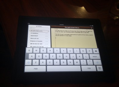 The iPad's on-screen keyboard is considered relatively easy to type with - but can you type the alphabet in 5 seconds or less?