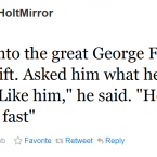 George Foreman gave some succinct, Twitter-friendly analysis ahead of last night's fight.