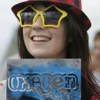 Aoife Connor from Cork gets her wellies pimped with an Oxegen stencil