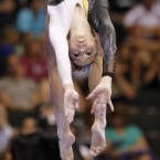 The final round of the US gymnastics championships, Saturday, Aug. 20, 2011, in St. Paul, Minnesota. 