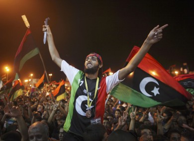 There were wild celebrations on the streets of rebel-held Benghazi last night.