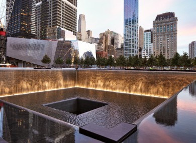 The 9/11 memorial - where the south tower once stood
