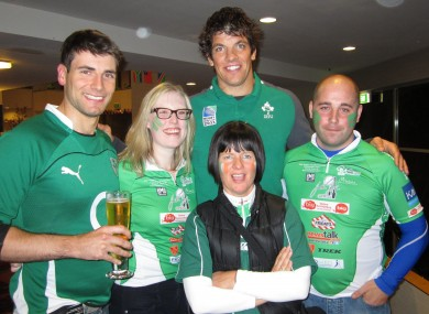 Some of the participants line out with Donncha O'Callaghan.
