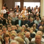 Some of the over-flow crowd at the auction today as there was not enough seats for everyone who turned up. 