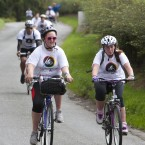 Tour de Picnic cyclists weave through Kilcullen, Co Kildare en route to the Electric Picnic. (Picture: Tony Kinlan)