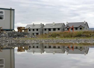 Ghost housing estate, The Waterways, in Keshcarrigan in Leitrim.