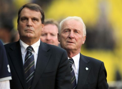 Marco Tardelli and Giovanni Trapattoni. 