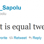 Eliota Fuimano-Sapolu sends one of his more light-hearted tweets.
