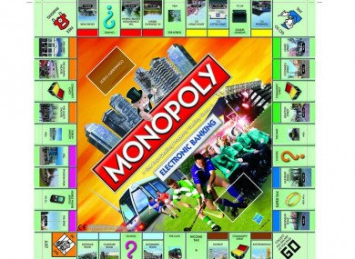 The new and revamped Irish Monopoly board.