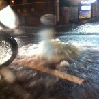 A drain spews out water at Malahide Road at Donneycarney - submitted by a TheJournal.ie reader