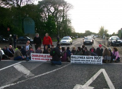Ballhea protesters says no to the bondholder bailout.