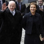 Presidential candidate Sean Gallagher and his wife Trish arrive at Dublin Castle. Image: Laura Hutton/Photocall Ireland